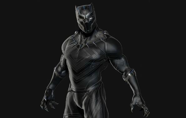 Picture background, necklace, mask, costume, black background, comic, Marvel Comics, suit, black Panther, Black Panther, vibranium