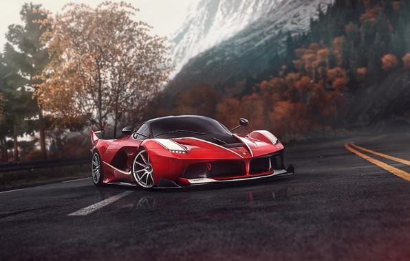 Picture Red, Auto, Road, The game, Machine, Ferrari, Supercar, Sports car, Driveclub, Blind Sarathonux, Ferrari FXX-K, ...