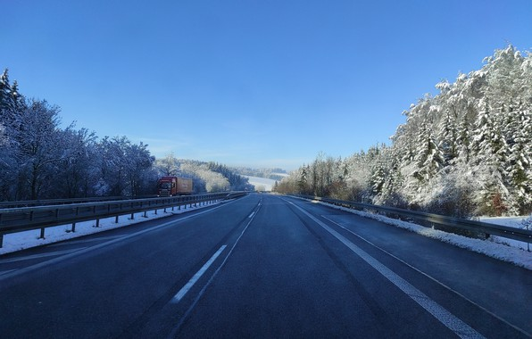 Picture winter, road, snow, landscape, nature, durnovskyi