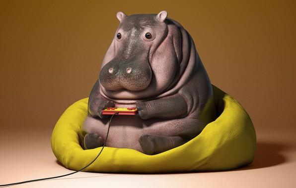 Picture the game, art, children's, fun, Hippo, Guodong Zhao, Lazy things