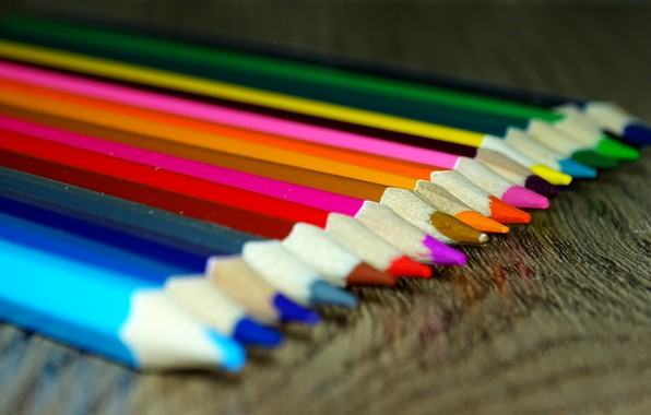 Picture color, macro, pencils