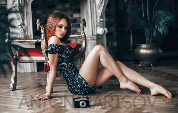 Picture look, sexy, pose, model, portrait, interior, makeup, figure, dress, hairstyle, brown hair, legs, beauty, sitting, …