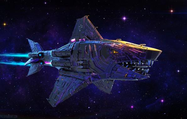 Picture space, transport, stars, camera, Errant Knight Hunter Cruiser
