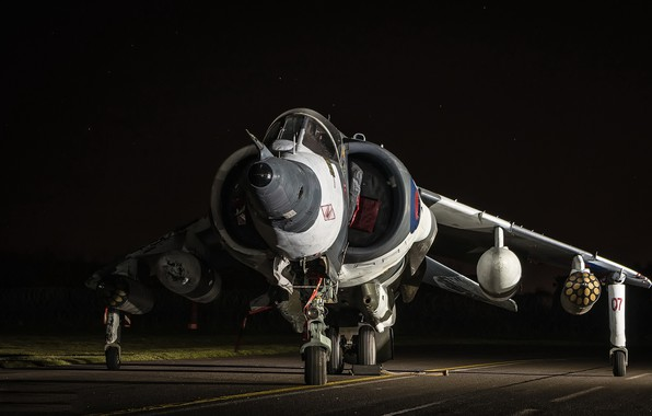 Picture weapons, the plane, RAF Harrier GR.3 XZ991, RAF Cosford
