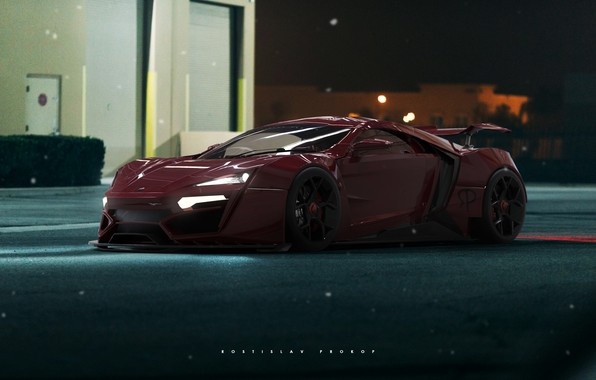Picture Auto, Machine, Supercar, Rendering, Sports car, HyperSport, Lykan, Transport & Vehicles, Rostislav Prokop, by Rostislav …