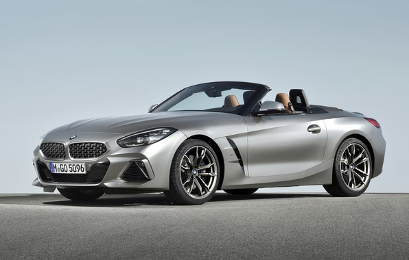 Picture grey, BMW, Roadster, double, BMW Z4, M40i, Z4, 2019, G29