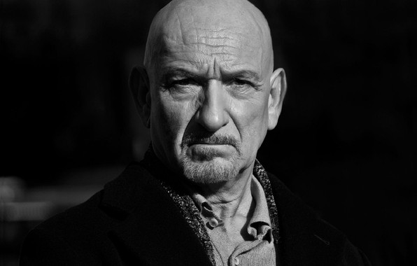 Picture look, pose, black and white, actor, actor, view, black and white, pose, Ben Kingsley, Ben …