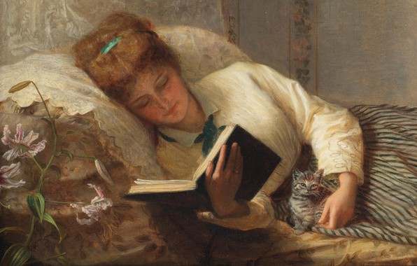 Picture English painter, 1872, Frederick Morgan, Frederick Morgan, oil on canvas, English painter, Good companions, Good …