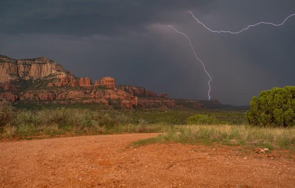 Picture rocks, lightning, valley, AZ, Arizona, Sedona, Sedona