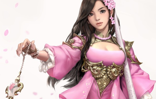 Picture magic, fantasy, art, seunghee lee, Pink blossom