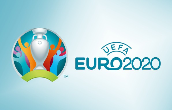 Picture sport, logo, cup, soccer, Uefa, simple background, 2020, official logo, Euro 2020