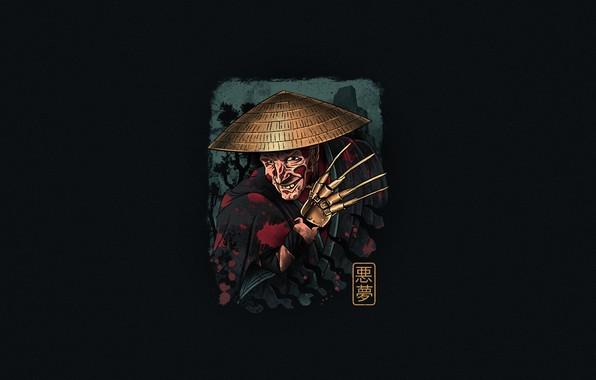 Picture Minimalism, Art, Freddy Krueger, Samurai, Freddy Krueger, Dreamer, by Vincenttrinidad, Vincenttrinidad, Ukiyo-e, Ukiyo-e, The Samurai ...