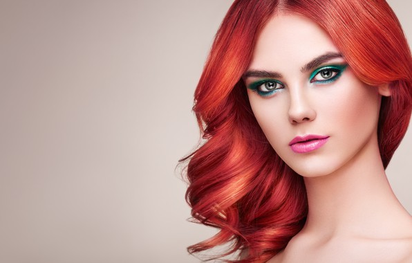 Picture girl, style, model, makeup, hairstyle, red hair, Oleg Gekman