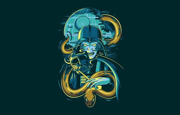 Picture Star Wars, Fantasy, Art, Darkness, Snake, Vector, Harry Potter, Background, Illustration, Minimalism, Animal, Voldemort, Angga …
