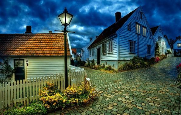 Picture Night, Wallpaper, Village