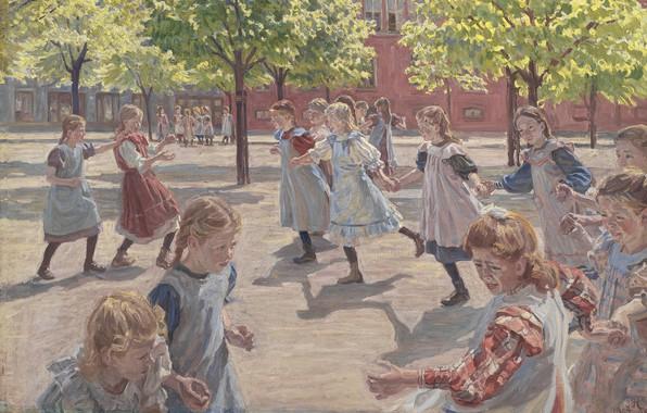 Picture Danish painter, Copenhagen, 1907-1908, Statens Museum for Kunst, Danish realist painter, Oil on canvas, Statens …