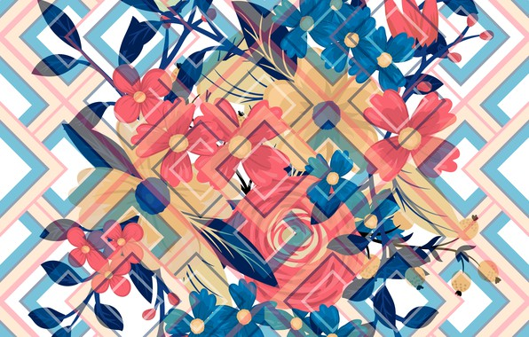 Picture background, texture, Abstract, design, background, elements, Summer, Texture, geometric, Floral