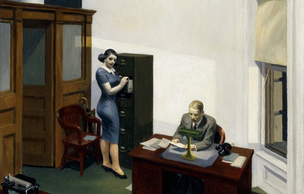 Picture 1940, Edward Hopper, Office at night