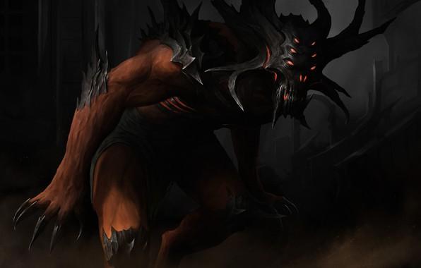 Picture look, monster, art, claws, art, dark fantasy