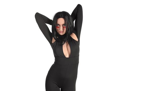 Picture model, actress, brunette, in black, stacy-cruz, Traci cruz