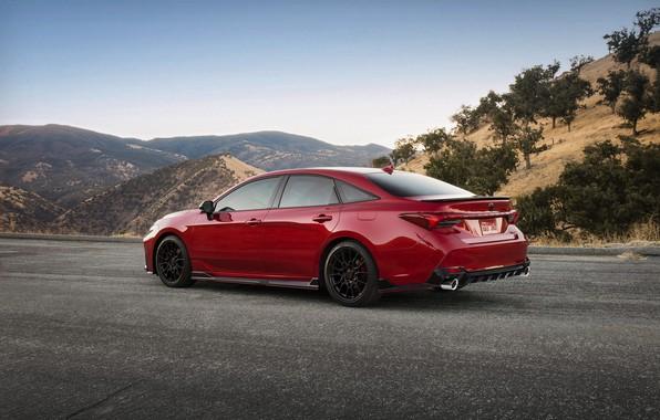 Picture red, Toyota, sedan, side, Avalon, TRD, 2020