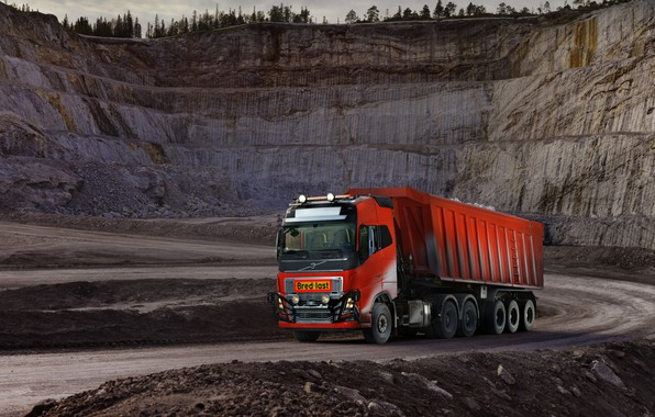 Picture Volvo, body, tractor, quarry, triaxial, the trailer, Volvo FH