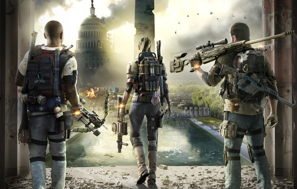 Picture the city, art, Washington, center, Tom Clancy's The Division 2, The Division 2