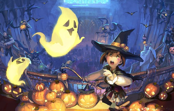 Picture night, perfume, broom, bats, halloween, Sabbath, Jack, witch, ghosts, witch hat, witch, pumpkin evil