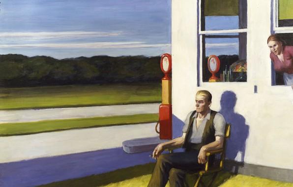Picture 1956, Edward Hopper, Four Lane Road