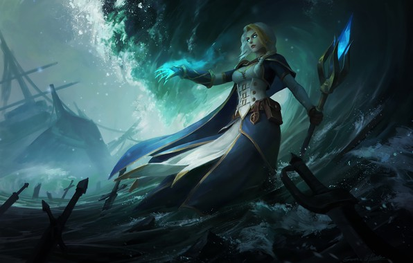 Picture WOW, Blizzard, WarCraft, Illustration, Jaina Proudmoore, Characters, Fan art, Jaina, Game Art, World of WarCraft, ...