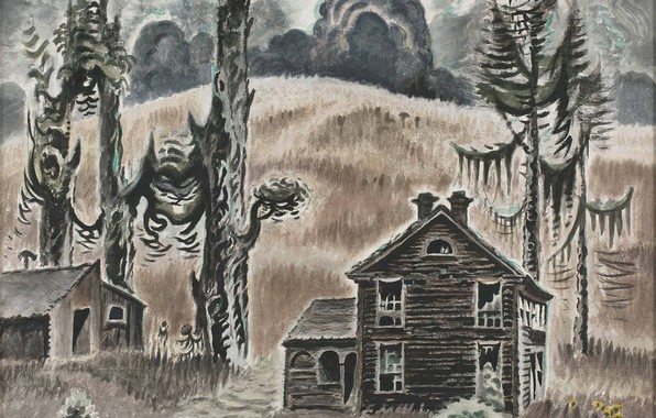Picture Charles Ephraim Burchfield, 1954-62, Haunted Twilight
