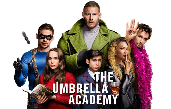 Picture look, white background, the series, actors, Movies, The Umbrella Academy, The Umbrella Academy
