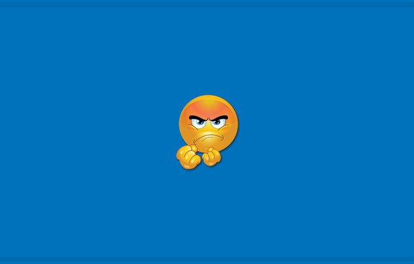 Picture colors, minimalism, yellow, blue, blue eyes, mood, blue background, digital art, artwork, anger, simple background, …