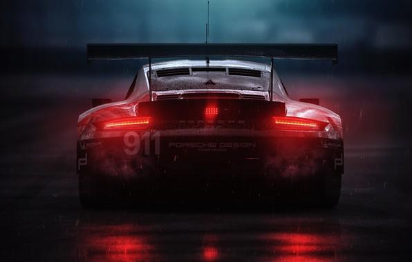 Picture Auto, Porsche, Rain, Porsche 911, Rendering, 3DS Max