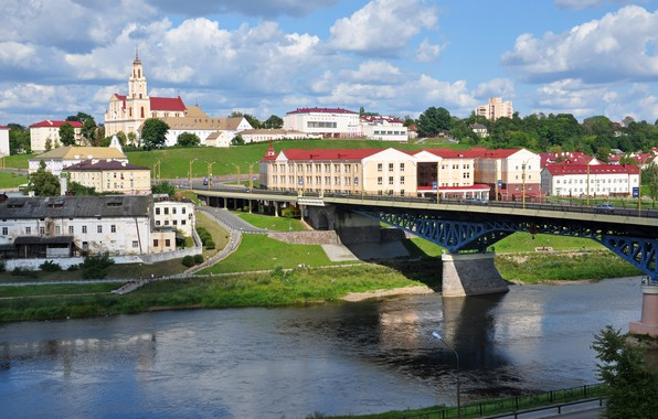 Picture bridge, Belarus, Grodno, brewery