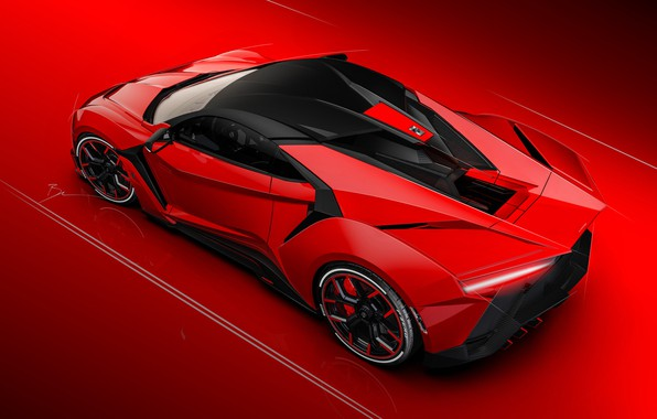 Picture Red, Auto, Machine, Rendering, Concept Art, SuperSport, Fenyr, Transport & Vehicles, Benoit Fraylon, by Benoit …