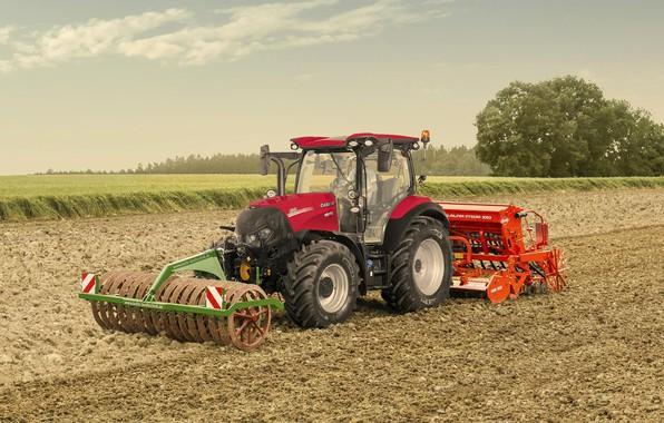 Picture field, tractor, Case, tractor, 130 CVXDrive, IH Versum