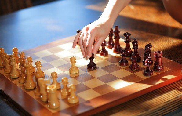 Picture sport, game, tower, wood, horse, queen, hand, king, Chess, bishop, pieces, pawns, chessboard