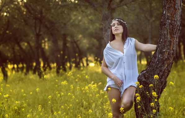 Picture summer, girl, Mioara Pacila