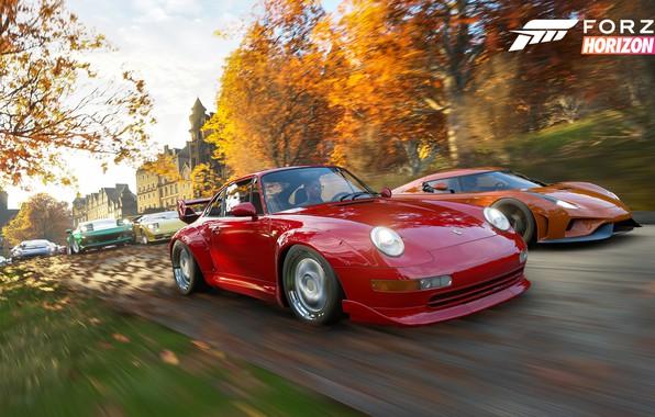 Picture Porsche, Koenigsegg, Microsoft, supercars, Regera, E3 2018, Forza Horizon 4