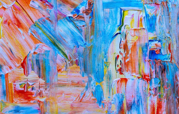 Picture paint, canvas, colorful, strokes