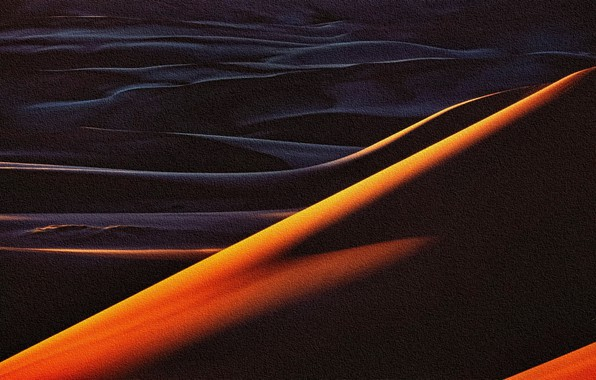 Picture abstraction, the dunes, rendering, Sands, acrylic, painting on canvas, the reproduction is the work of …