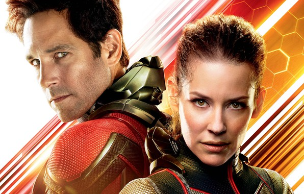 Picture background, fiction, Evangeline Lilly, poster, comic, costumes, superheroes, Evangeline Lilly, MARVEL, Wasp, Paul Rudd, Paul …