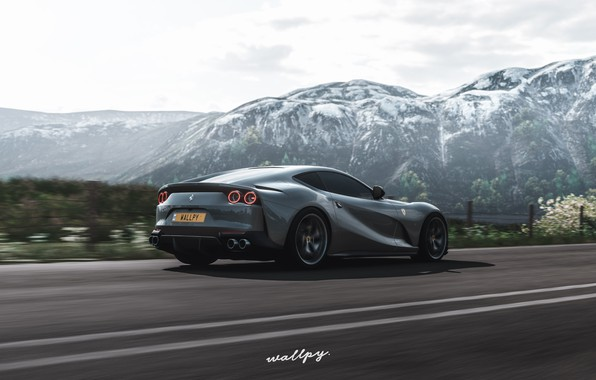 Picture Microsoft, Ferrari, game, 2018, Superfast, game art, 812, Forza Horizon 4, by Wallpy