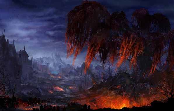 Picture fantasy, the game, art, location, Art of Darkaden2, Suroo