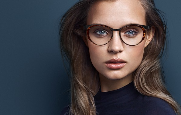 Picture look, pose, model, makeup, glasses, model, hair, look, pose, Victoria's Secret, makeup, hairstyle, Josephine Skriver, …