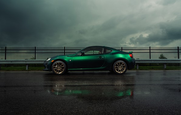 Picture asphalt, clouds, Toyota, Toyota 86, Limited Hakone Edition