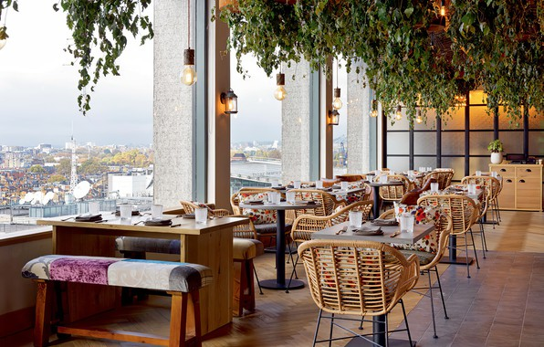 Picture view, restaurant, interieur