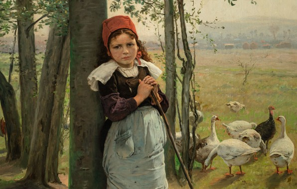 Picture 1880, oil on canvas, Czech painter, Czech painter, National Gallery in Prague, National gallery in …