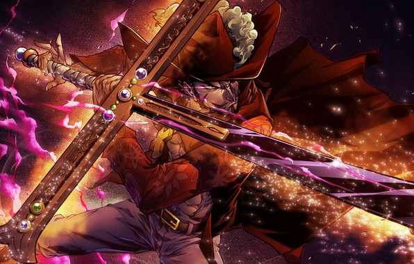 Picture sword, pirate, guy, One Piece